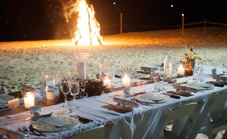 Tangalooma S Beach Bonfire Receptions