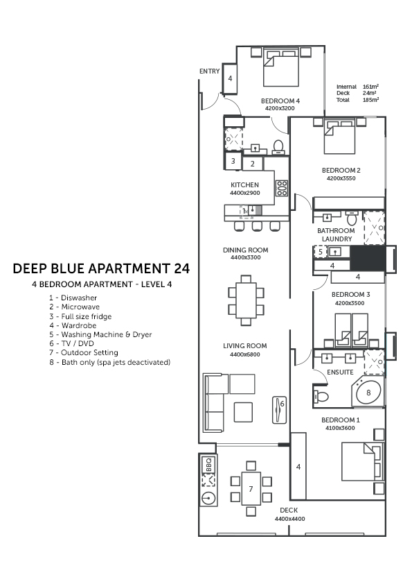 Deep Blue Holiday Apartment 24 Tangalooma Moreton Island