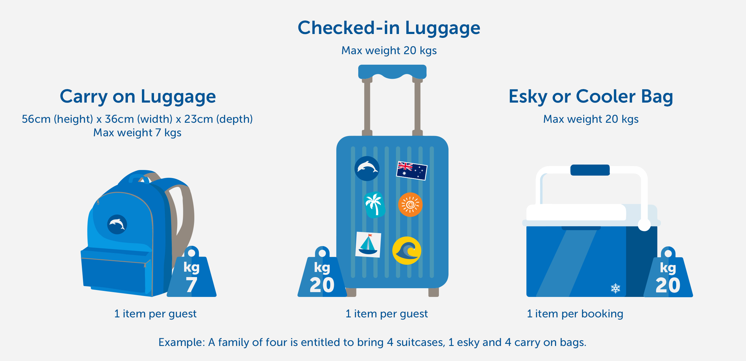 Tangalooma Island Resort Luggage Restrictions