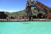 Scuba diving at the Tangalooma Wrecks